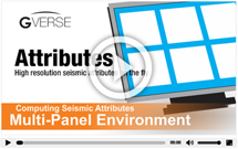 Computing Seismic Attributes Multi Panel Environment